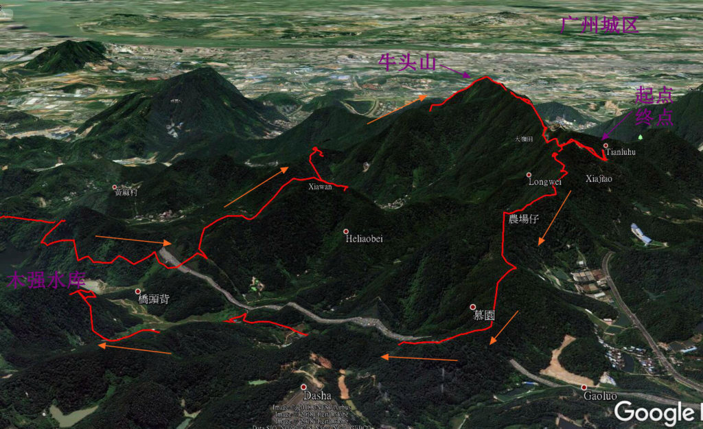 20180311广州UTGZ 55km越野赛轨迹分析2 1024x625 - 20180311广州UTGZ 牛头山55km盐水越野赛
