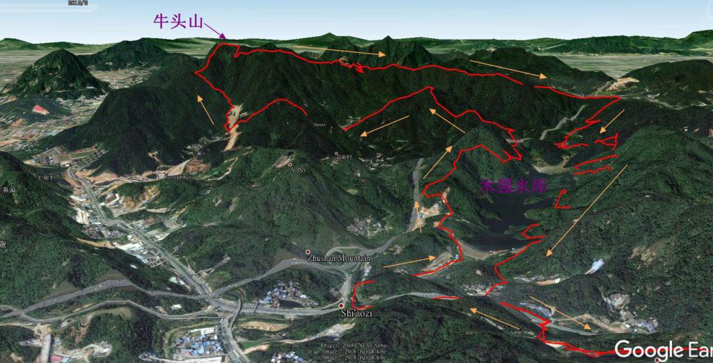20180311广州UTGZ 55km越野赛轨迹分析3 1024x522 - 20180311广州UTGZ 牛头山55km盐水越野赛